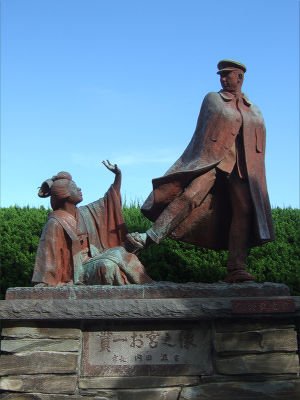 ECナビブログβ版-貫一・お宮の像